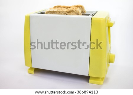 Toaster the day maker - stock photo