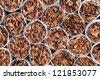 Tobacco in cigarettes close up - stock photo