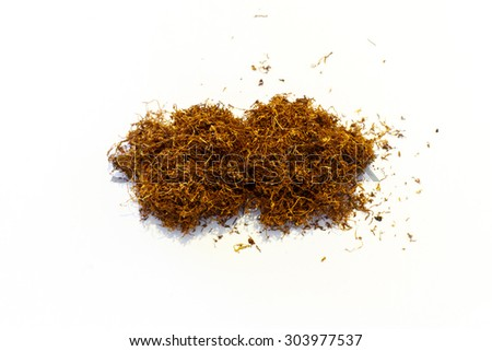 tobacco pile isolated - stock photo