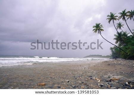 Toco on the north coast of Trinidad - stock photo