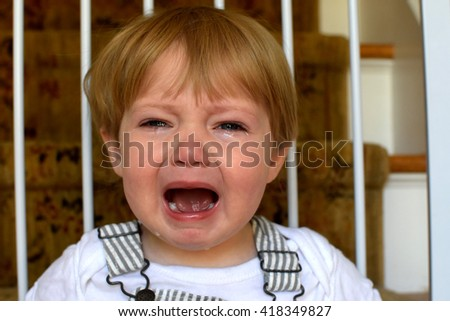 Toddler Baby Crying - stock photo