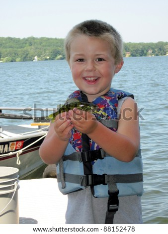toddler fishing - stock photo