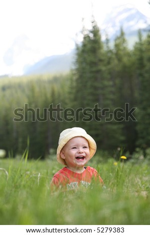 Toddler Having Fun - stock photo