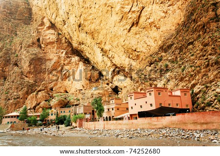 Todra Gorges, Morocco, Africa - stock photo