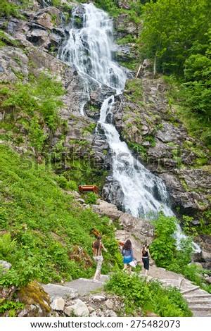 Todtnauer waterfalls, Todtnau, Black Forest, Baden-Wurttemberg, Germany, Europe - stock photo