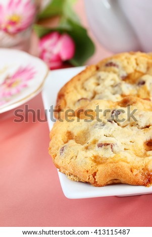 Toffee crunch cookies - stock photo