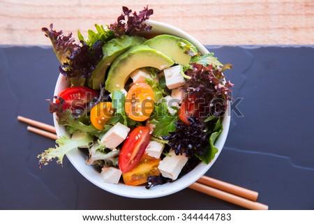 Tofu salad - stock photo