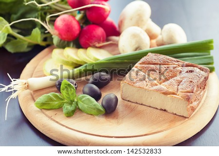 Tofu with vegetables - stock photo