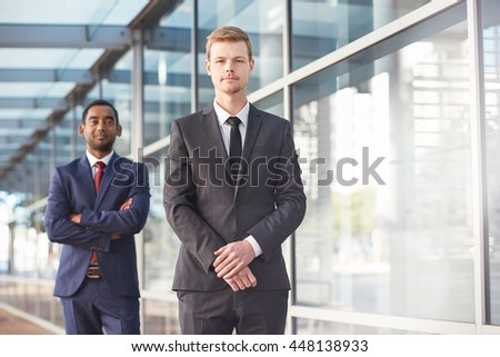 Together they make ther perfect business team - stock photo