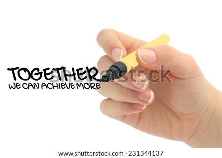 Together we can achieve more - stock photo