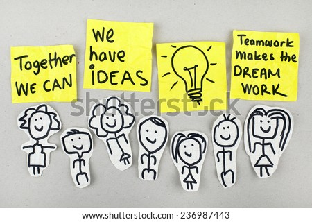 Together We Can / Teamwork Team Concept - stock photo