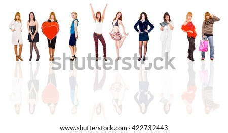Together we Stand Business Compilation  - stock photo