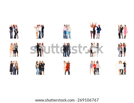 Together we Stand Many Colleagues  - stock photo