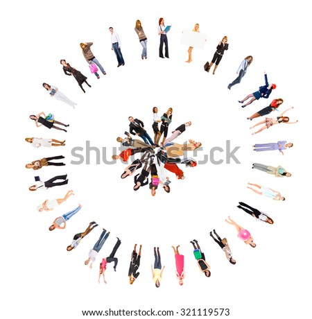 Together we Stand People Team  - stock photo