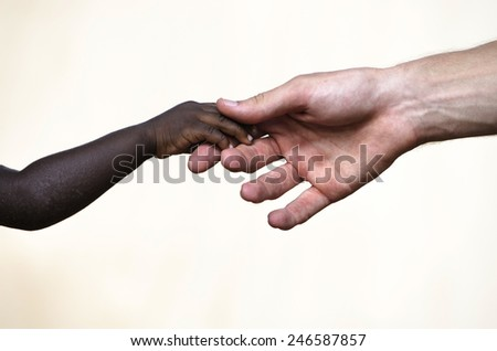 Togetherness: Relationships Between Different Cultures Symbol - stock photo
