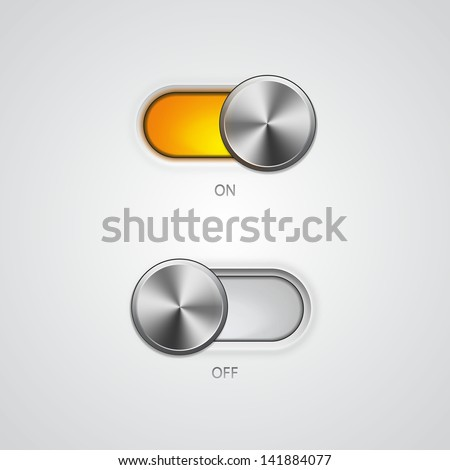Toggle Switch On and Off position - stock photo