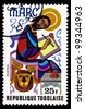TOGO - CIRCA 1978: A post stamp printed in the Republic of Togo shows Mark the Evangelist, circa 1978 - stock photo