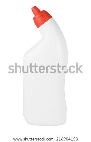 Toilet Cleaner on White Background - stock photo