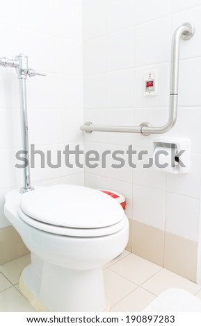 toilet for patient  - stock photo