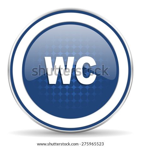 toilet icon wc sign  - stock photo