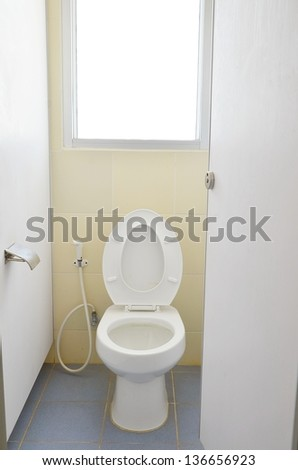 Toilet in medicine of faculty. - stock photo