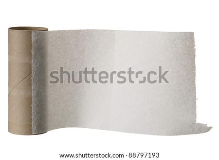 Toilet paper. - stock photo