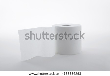 Toilet Paper  on white background  - stock photo