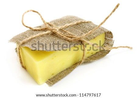 Toilet soap on a white background - stock photo