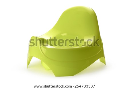 Toilet training chamber pot for small children - stock photo