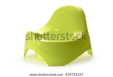 Toilet training chamber pot for small children - stock photo