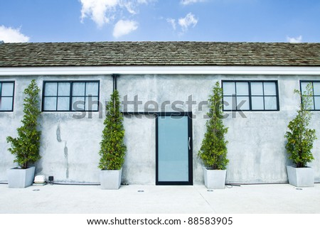 Toilet with blue sky - stock photo