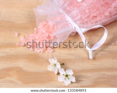 Toiletries, peach smell - stock photo