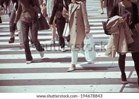 Tokyo City Commuters - stock photo