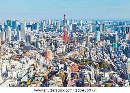 Tokyo in Japan  - stock photo