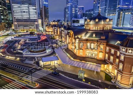 Tokyo, Japan at Tokyo Station. - stock photo