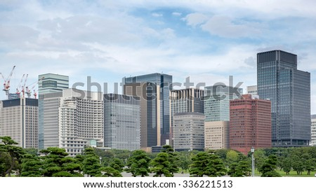 Tokyo, Japan - September 23: Cityview of Tokyo, Japan on September 23 2015. Tokyo is the most populous metropolitan area in the world, the capital and the largest city of Japan. - stock photo