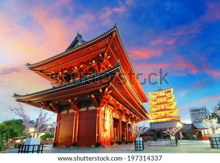 Tokyo - Sensoji-ji, Temple in Asakusa, Japan - stock photo