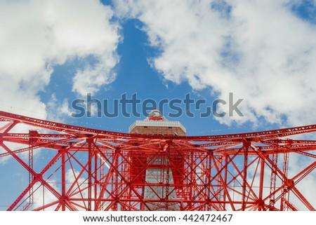 Tokyo tower in Tokyo Japan - stock photo