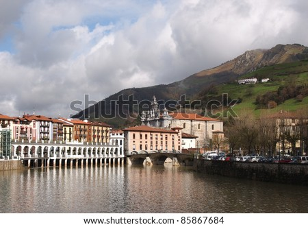 Tolosa is a town and municipality to the south of Donostia-San Sebastian in the Basque province of Gipuzkoa, Spain. - stock photo