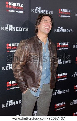 """Tom Cruise and Katie Holmes at the """"Kennedys"""" World Premiere, Academy of Motion Picture Arts and Sciences, Bevrly Hills, CA. 03-28-11 - stock photo"""
