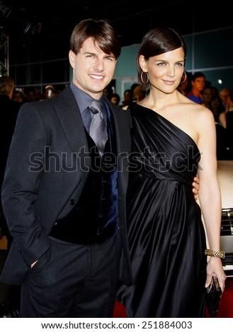 "Tom Cruise and Katie Holmes attend the AFI Fest Opening Night Gala Premiere of ""Lions for Lambs"" held at the ArcLight Theater in Hollywood, California, United States on November 1, 2007.  - stock photo"