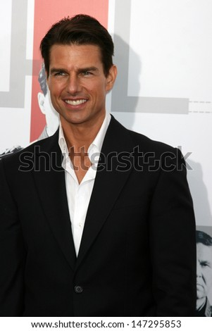"""Tom Cruise  arriving at the LA  Premiere of """"Valkyrie"""" at the Director's Guild of America Theater in Los Angeles, CA on December 18, 2008 - stock photo"""