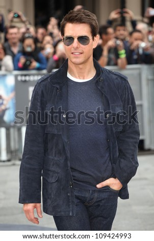 Tom Cruise arriving for the Rock Of Ages Premiere, Odeon Leicester Square, London. 10/06/2012 Picture by: Alexandra Glen / Featureflash - stock photo
