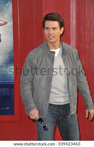 "Tom Cruise at the world premiere of his new movie ""Rock of Ages"" at Grauman's Chinese Theatre, Hollywood. June 9, 2012  Los Angeles, CA Picture: Paul Smith / Featureflash - stock photo"