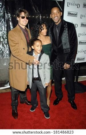 Tom Cruise, Willow Smith, Will Smith,Jada Pinkett-Smith at I AM LEGEND Premiere, WAMU Theatre at Madison Square Garden, New York, NY, December 11, 2007 - stock photo