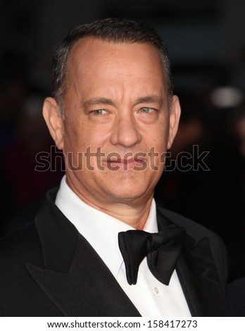 Tom Hanks arriving for the 'Captain Phillips' premiere on the opening night of the 57th BFI London Film Festival at Odeon Leicester Square, London. 09/10/2013 - stock photo