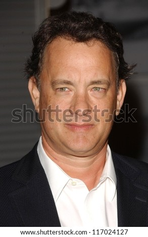 """Tom Hanks at the Los Angeles premiere of """"Starter for Ten"""". Arclight Theaters, Hollywood, CA. 02-06-07 - stock photo"""