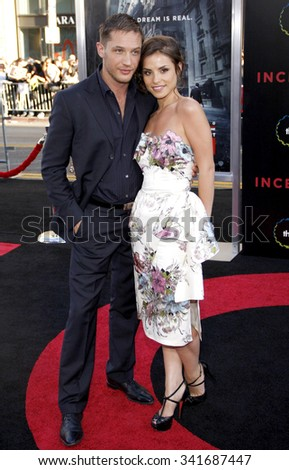 """Tom Hardy and Charlotte Riley at the Los Angeles Premiere of """"Inception"""" held at the Grauman's Chinese Theater in Los Angeles, California, United States on July 13, 2010.  - stock photo"""