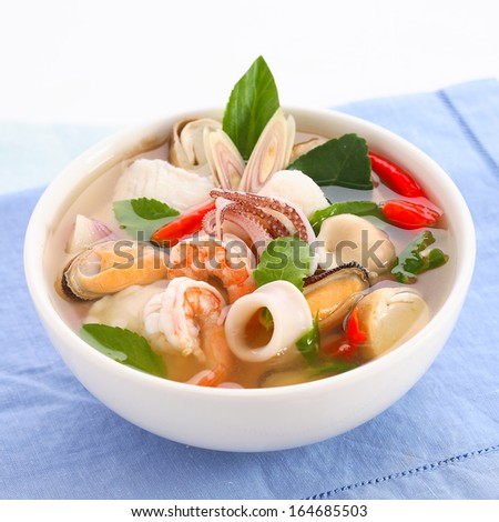 Tom yum po taek stock photos images pictures for 101 soup cuisine