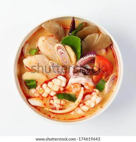 Tom Yum Soup, Thai Food - stock photo